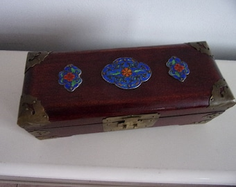 Chinese jewel box with cloisonne decoration