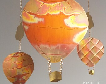 copper mobile calder hot air balloons, clouds, oh the places you'll go, up, up and away