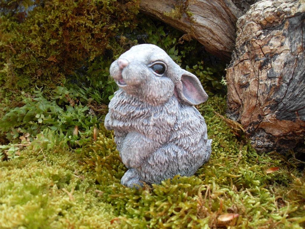 Stone Statues For Garden Rabbit rabbit statue bunny garden statue rabbit memorial zoom workwithnaturefo