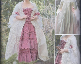 Simplicity 8578 Misses 18th Century Marie Antoinette Outlander Poldark Costume Gown UNCUT Sewing Pattern