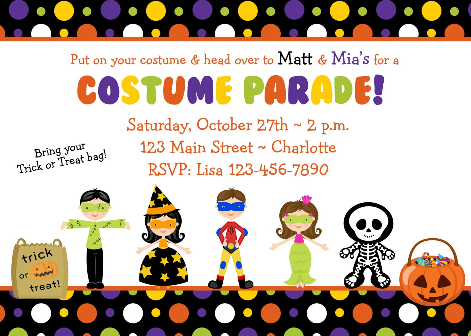Halloween costume party invitation Costume Parade Party