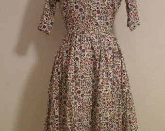 Vintage novelty print shirt dress