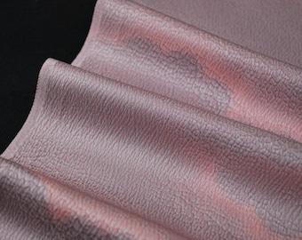 "13.5""w. x 20.1""l. Vintage silk kimono fabric mauve and pink cloud 2712 G"