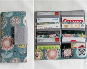 12 Slot Credit Card Organizer Holder, Card Organizer, Credit Card Wallet, Loyalty Card Organizer, Business Card Holder, Nearby Floral