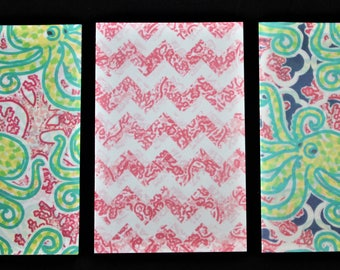 Preppy octopus patterned vellum, southern prep vellum, spring vellum, summer vellum, party vellum, beach vellum