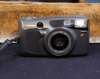 Chinon Pocket Zoom 38-60mm Vintage Compact Camera 35mm Film Tested