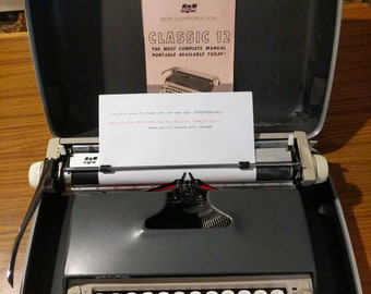 1964 Smith Corona Classic 12 portable typewriter with case