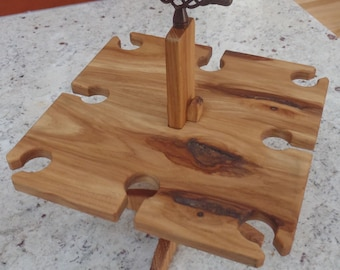 Custom wine caddy/carrier gift for your favorite wine lover