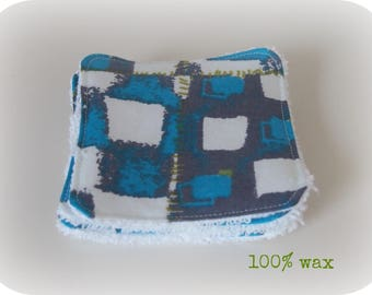 Washable cotton real wax and Terry cloth.