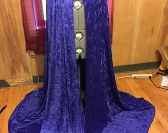 Crushed Velvet Purple Cloak