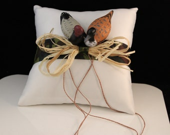 Camouflage Ring Bearer Pillow with Ducks/ Wedding/ Hunting Theme