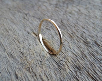 Knuckle Ring - Simple 14 gauge- Midi Ring Stacking Ring - Gold filled 14k - Made to Order