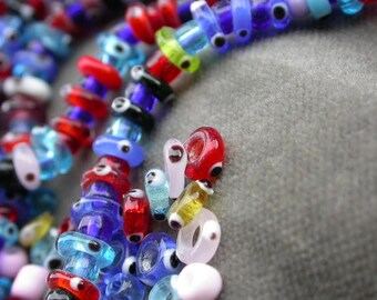 set of 40 Murano glass bead eye