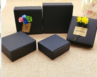 40x Black Paper Boxes Wedding Party Favour Boxes Easter Gift Packing Chocolate Candy Jewelly Soap Candle Boxes Product Packaging Boxes