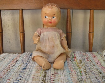 Vintage Composition Doll Baby doll 8 inches