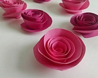 Spring Pink Paper Flowers, Spring Roses, Easter Decor