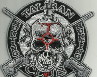 TALIBAN HUNTING CLUB military morale biker patch