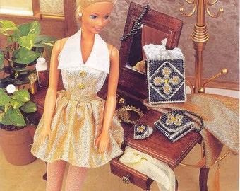 Fashion Elegance ~ plastic canvas pattern  ~  Annie's ~ fashion doll pattern