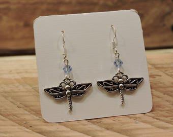 Dragonfly Earrings, Dragonfly Dangle Earrings