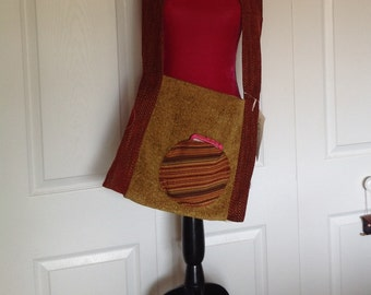 Rust & Gold Cross Body Bag