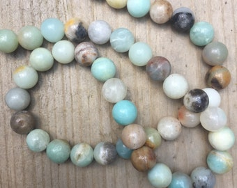 Natural amazonite 8mm beads 45 pieces