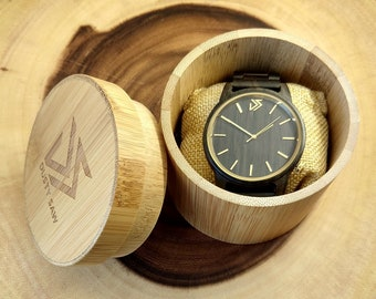 Wooden Watch Engraved | Fathers Day Gift | Personalized Gift | Gifts for Men | Gifts For Boyfriend | Gifts For Husband | Engagement Gift |