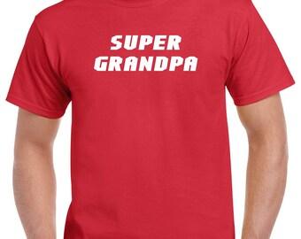 Super Grandpa Shirt- Gift for Grandpa- Fathers Day Gift