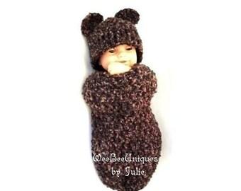 crochet pattern digital download teddy bear cocoon