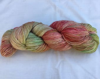 Hand dyed Bluefaced Leicester superwash/Bamboo 4ply wool