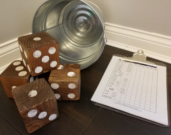 Rustic Giant Yard Dice Outdoor Lawn Game