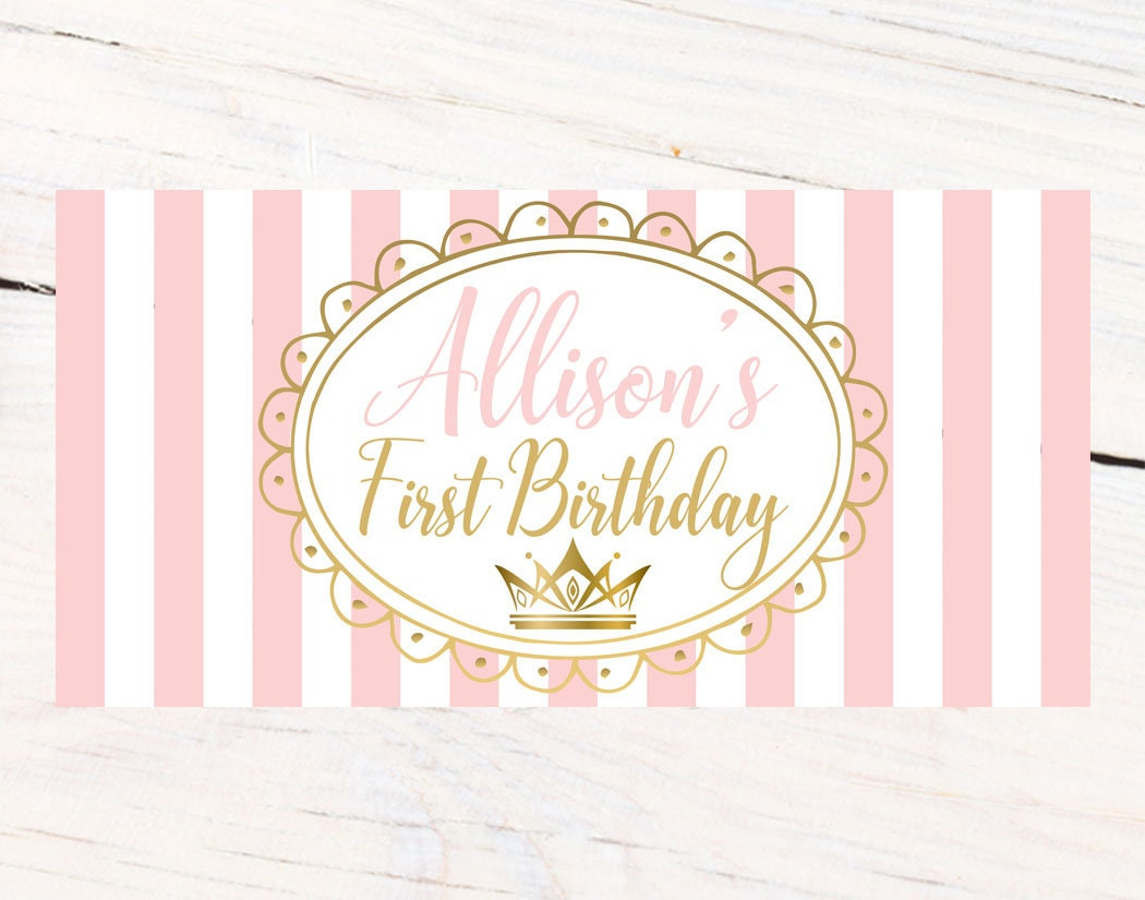 first birthday princess banner personalized party banners first birthday girl banner custom banner birthday princess banner
