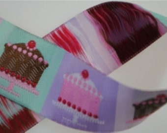Little Cakes Lavender Jacquard Trim 28mm wide