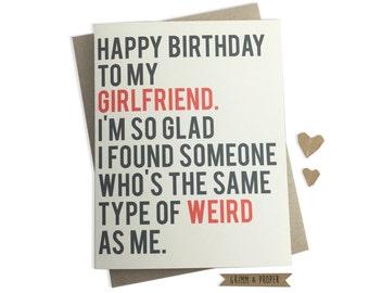 Funny boyfriend birthday card boyfriends birthday funny girlfriend birthday card girlfriends birthday weird relationship love happy birthday bookmarktalkfo Choice Image