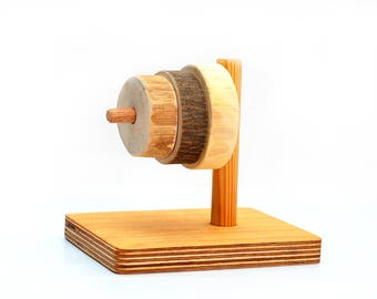Wooden sorter, First sorting wood toy, Montessori inspired Primary tree rings, Waldorf stacking and counting learning game, Wood baby gift