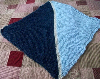 Your Choice Custom Hand Knit Baby Blanket For Boy or Girl