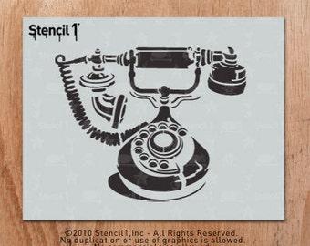 Fancy Phone Stencil- Reusable Crafts & DIY Stencils- S1_01_40 -8.5x11- By Stencil1