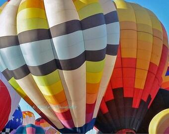 Hot Air Balloons, Balloon Fiesta,  Southwest Art, Original Photograph, 5 x 7 Matted Photograph