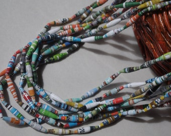 Paper necklace (8 strands)