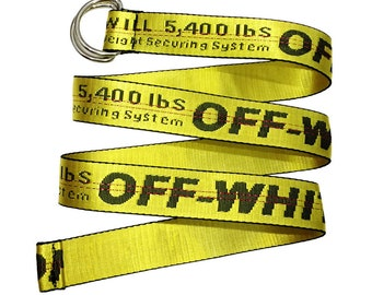 off-white gold belts,ladies yellow waistband,letters woven belts,belt loop,belt buckle,off-white patch