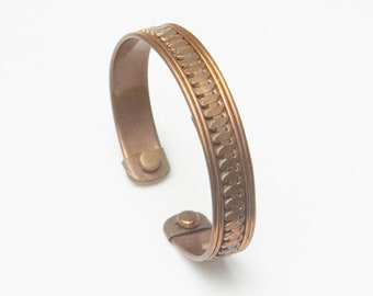 Vintage 1970's Copper Bracelet Open Bangle Healing Costume Jewelry Gift For Her Best Deal on Etsy