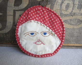 Vintage Embroidered Face Kitchen Wall Decor Cottage Home Decor