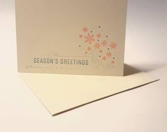 Season's Greetings Snowflake Card