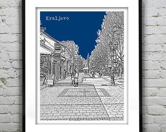 Kraljevo Serbia City Skyline Poster Art Print Item S5015