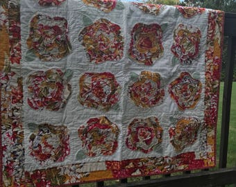 French Roses Quilt *free shipping*