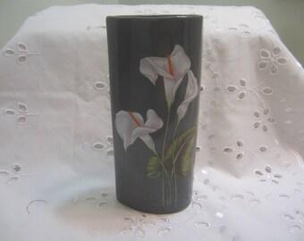 Vintage Yamaji Grey Vase Made in Japan Tear Shaped