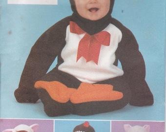 2001 Butterick Sewing Pattern No 3265 for Babies/Infants Costumes Penguin, Cat, Lamb, Gingerbreadman  Uncut, Factory Folded