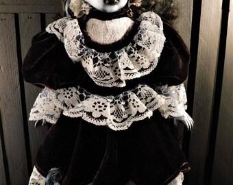 "Chiyoye 16"" OOAK Porcelain Horror Doll"