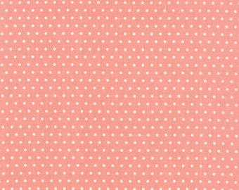 Vintage Picnic Spot Pink Coral Fabric by Bonnie and Camille for Moda Fabrics