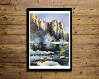 Poster Artistico 50x70cm Snow
