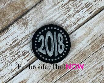 INSTANT DOWNLOAD 2018 Digital Feltie Embroidery Design File